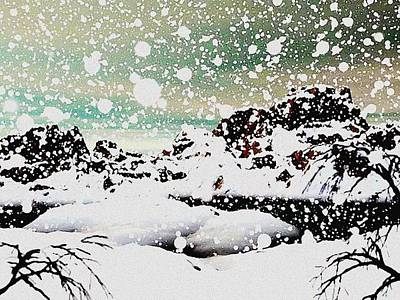 Digital Art - Snowfall by Anastasiya Malakhova