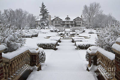 Photograph - Snowfall At Longview Mansion by Dennis Hedberg