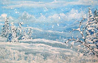 Painting - Snowfall by Jeanette Stewart