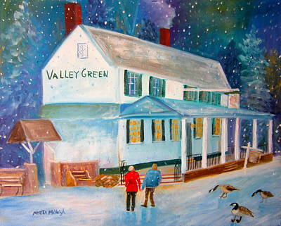 Snowfall Valleygreen Art Print by Marita McVeigh