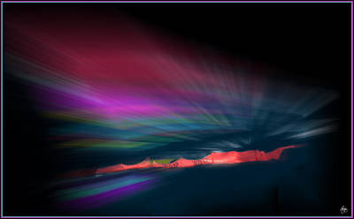 Photograph - Snowfence Borealis by Wayne King