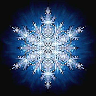 Photograph - Snowflake - 2013 - A by Ricky Barnes
