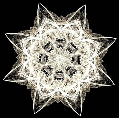 Photograph - Snowflake Fractal by Maria Urso
