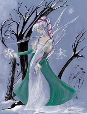 Painting - Snowflake by Nadine Dennis