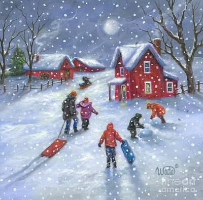 Snowflake Play Print by Vickie Wade