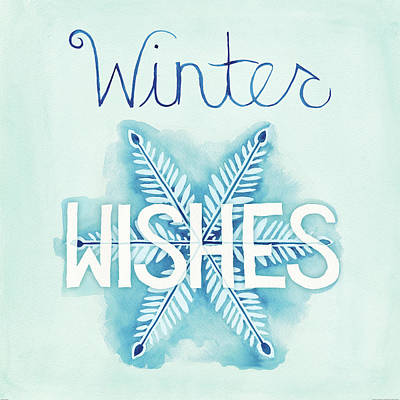 Winter Light Painting - Snowflake Sayings II by Elyse Deneige