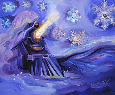Snowflake Train Art Print