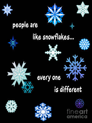 2hivelys Art Digital Art - Snowflakes 4 by Methune Hively