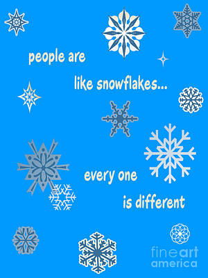 Digital Art - Snowflakes 5 by Methune Hively
