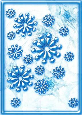 Glass Painting - Snowflakes by Anastasiya Malakhova
