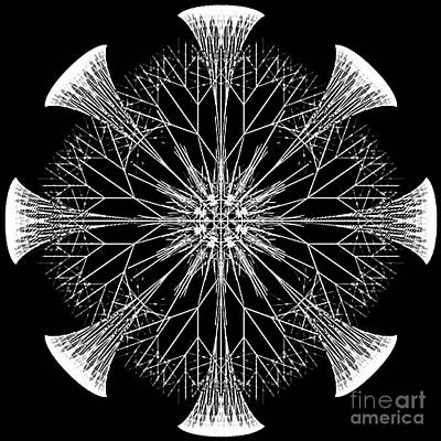 Digital Art - Snowflakes Are Dancing by Rhonda Strickland