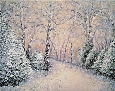 Painting - Snowflakes by Natalie Holland