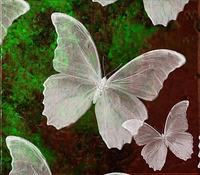 Snowflies Art Print