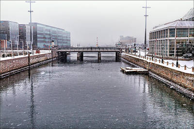 Waterscape Photograph - Winter Bridge by EXparte SE