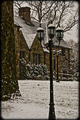 Photograph - Snowing At Stokesay Castle by Trish Tritz