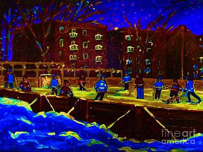 Snowing At The Rink Print by Carole Spandau