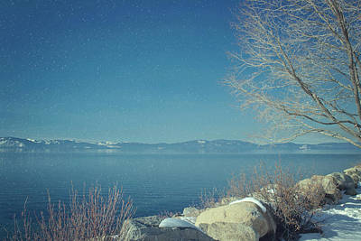 Photograph - Snowing In Tahoe by Kim Hojnacki