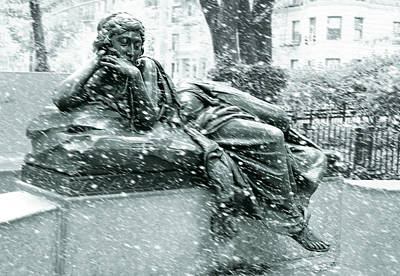Strau Photograph - Snowing On Memory by Tom Kostro