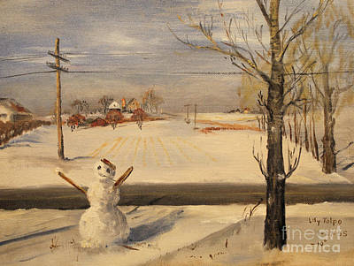 Painting - Snowman - 1955 by Art By Tolpo Collection