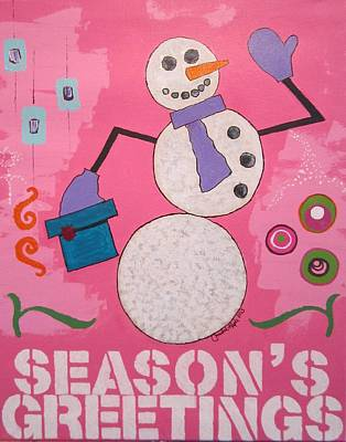 Painting - Snowman 2013 by Christal Kaple Art