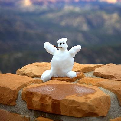 Photograph - Snowman At Bryce - Square by Gordon Elwell