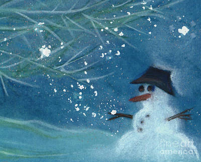 Painting - Snowman By Jrr by First Star Art