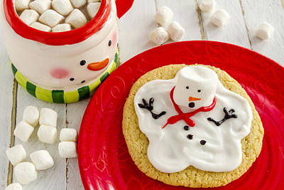 Photograph - Snowman Cookie For Santa by Teri Virbickis