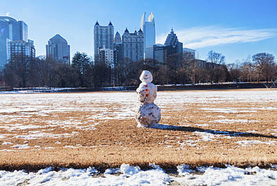 Photograph - Snowman In The City by Diane Macdonald