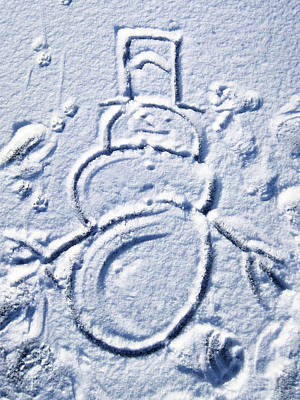 Photograph - Snowman by Larry Hunter