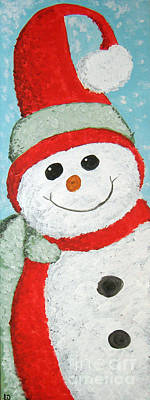 Painting - Snowman by Lee Owenby