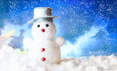 Decorating Photograph - Snowman by Michal Bednarek