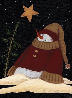 Painting - Snowman by Natasha Denger