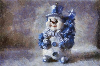 Tom Woolworth Digital Art - Snowman Photo Art 02 by Thomas Woolworth