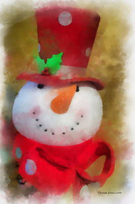 Digital Art - Snowman Photo Art 18 by Thomas Woolworth