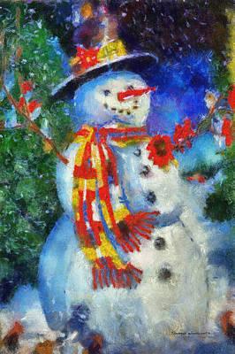 Digital Art - Snowman Photo Art 54 by Thomas Woolworth