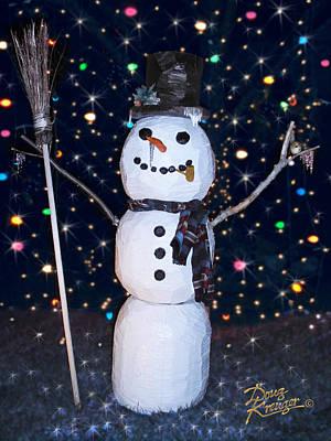 Sculpture - Snowman Splendor by Doug Kreuger