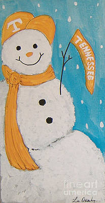 Painting - Snowman University Of Tennessee by Lee Owenby