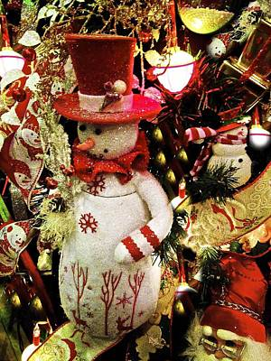 Photograph - Snowman Xmass by Joan Reese