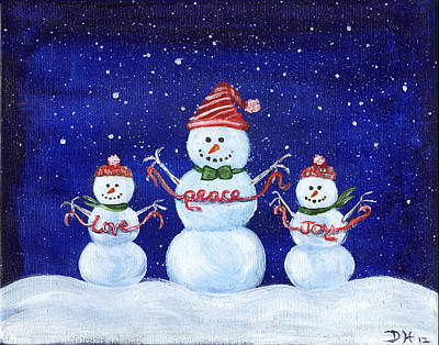 Painting - Snowmen by Diana Haronis