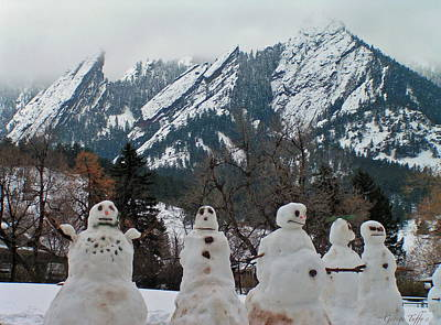Photograph - Snowmen Flatirons by George Tuffy
