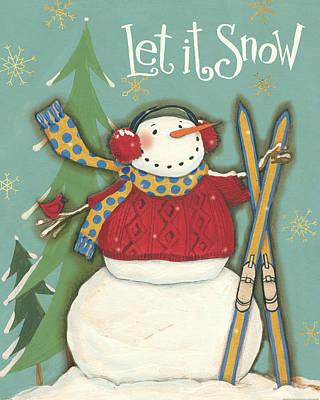 Snowmen Season IIi Art Print