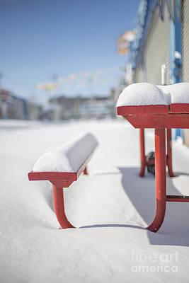 Snows Of New York Print by Evelina Kremsdorf
