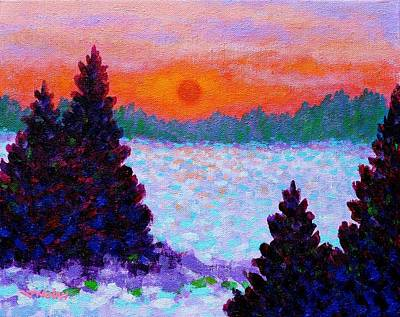 Poppies Field Painting - Snowscape by John  Nolan