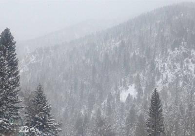 Photograph - Snowscape Taos II by Bobbi Bennett