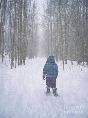 Snowshoeing Original by Joy Nichols