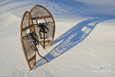 Art Print featuring the photograph Snowshoes I by Jessie Parker