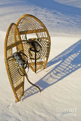 Art Print featuring the photograph Snowshoes II by Jessie Parker