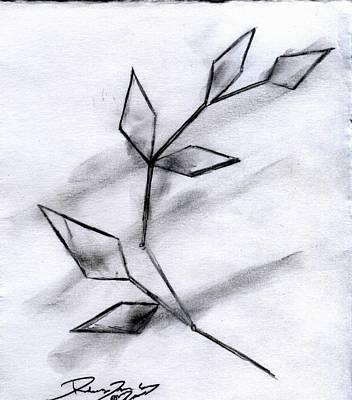 Drawing - Snowsong by Rebecca Tacosa Gray