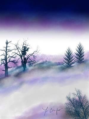 Snowstorm In Catskill Ipad Version Art Print by Frank Bright
