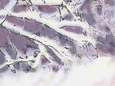 Digital Art - Snowtract by Ian  MacDonald